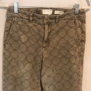 Chino by Anthropologie embroidered pants